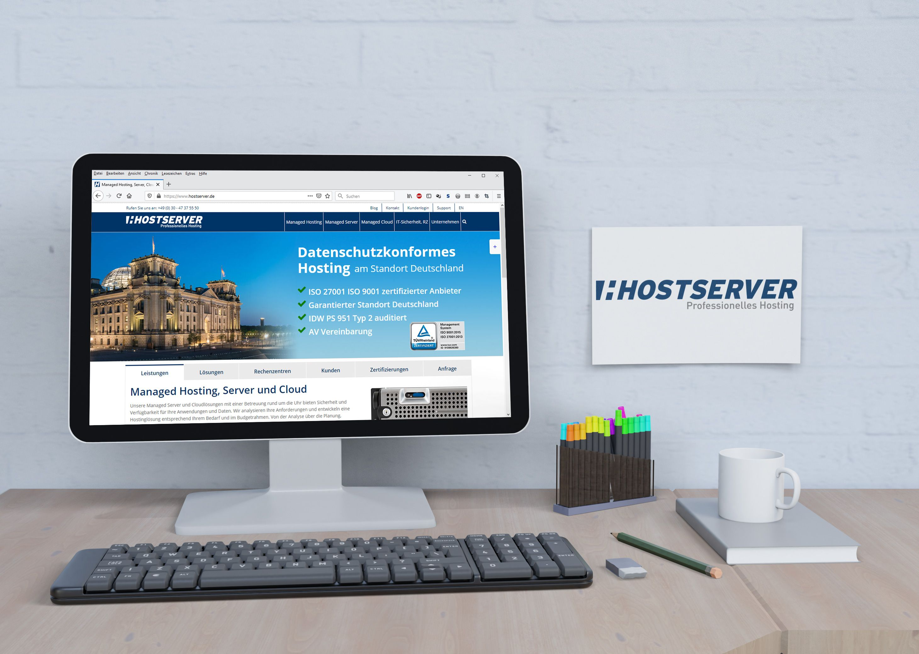 Hostserver Website - Portfolio