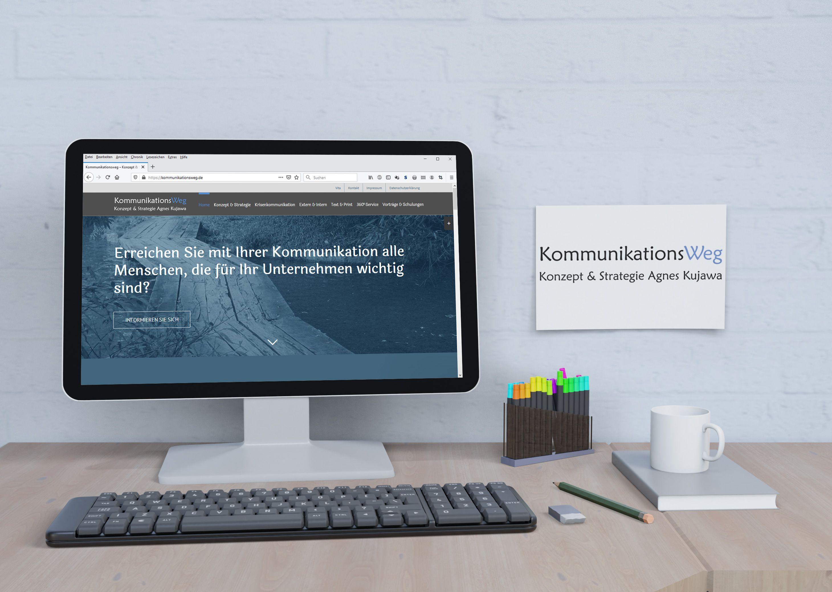 Kommunikationsweg Website - Portfolio